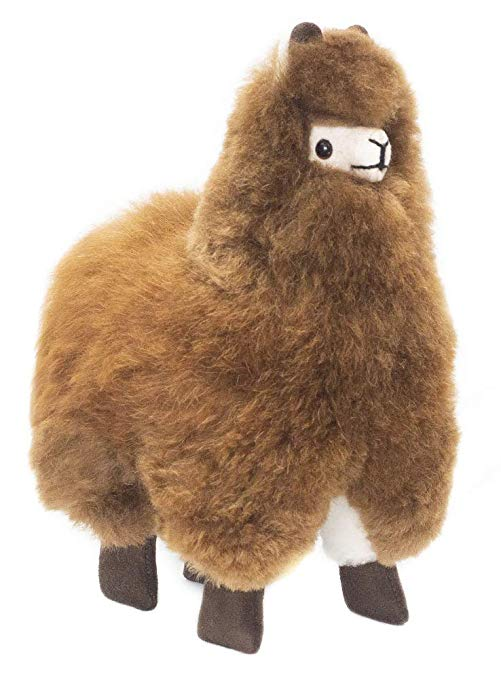Brown Baby Alpaca Fur Toy